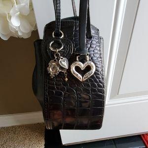 Brighton small black drawstring bag